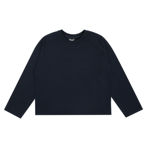 MG7S BACK FRINGE LONG TEE (navy)