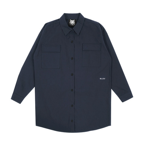 MG7S OVER SIZE SHIRTS (navy)