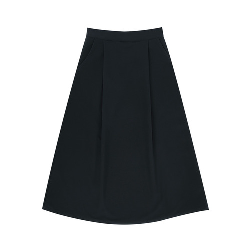 MG7S A LINE LONG SKIRT (navy)