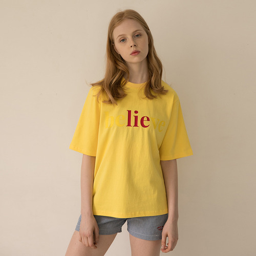 MG7S BELIEVE TEE (yellow)