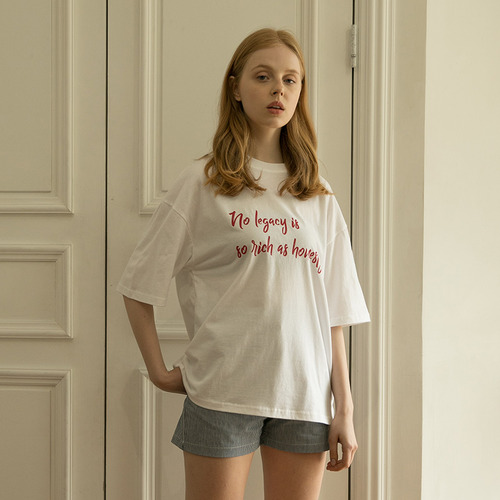 MG7S HONESTY LETTERING TEE (white)