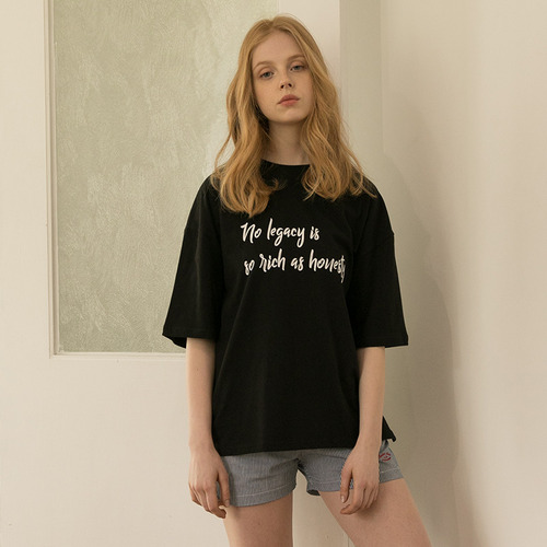 MG7S HONESTY LETTERING TEE (black)