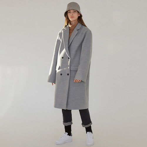 MG7F DOUBLE MIDDLE COAT (GRAY)
