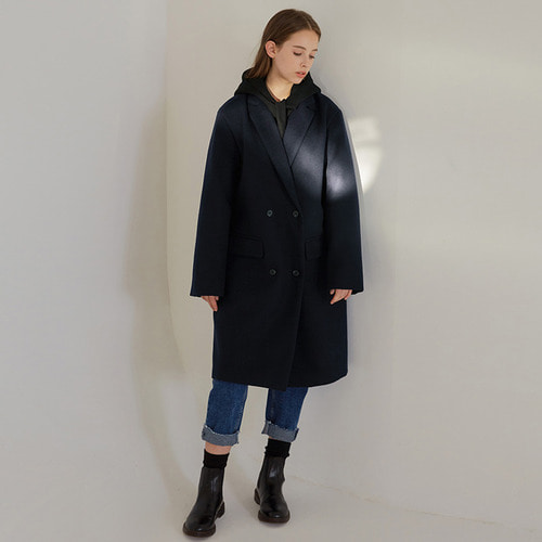 MG7F DOUBLE MIDDLE COAT (NAVY)