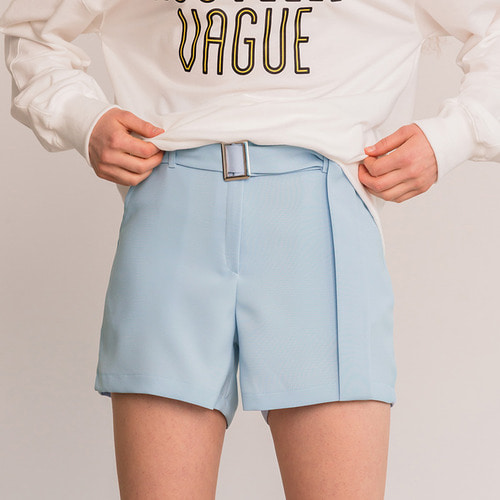 MG8S BUCKLE SHORTS (LIGHT BLUE)