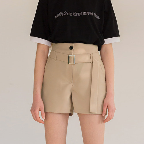 [리퍼브]MG8S BUCKLE SHORTS (BEIGE)