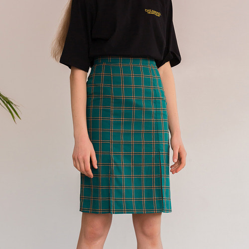 MG8S TWO SLIT SKIRT (GREEN)