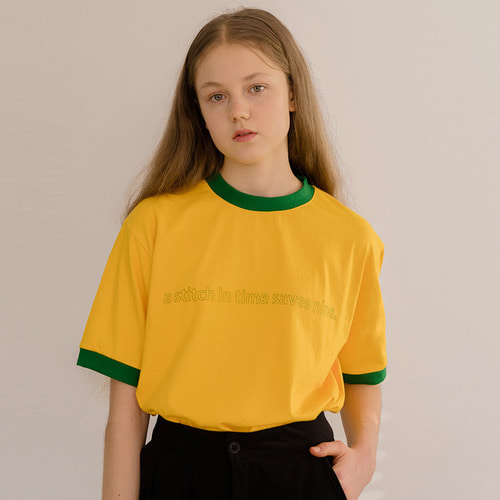 [리퍼브]MG8S STITCH TEE (YELLOW)