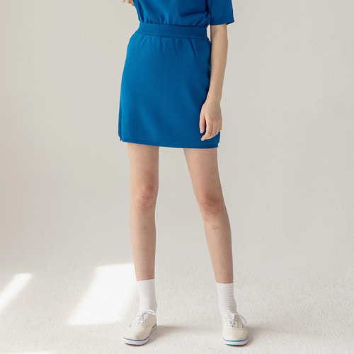 MG8S KNIT MINI SKIRT (BLUE)