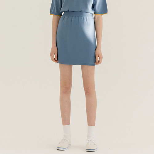 MG8S KNIT MINI SKIRT (DARK SKY BLUE)