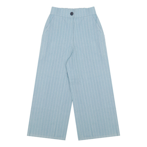 MG6S DENIM STRIPE WIDE PANTS (LIGHT BLUE)
