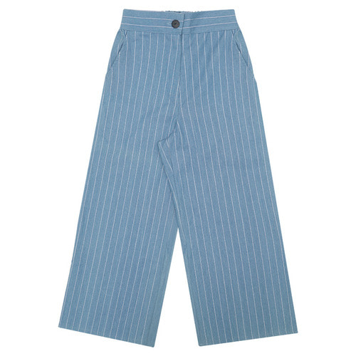 MG6S DENIM STRIPE WIDE PANTS (BLUE)
