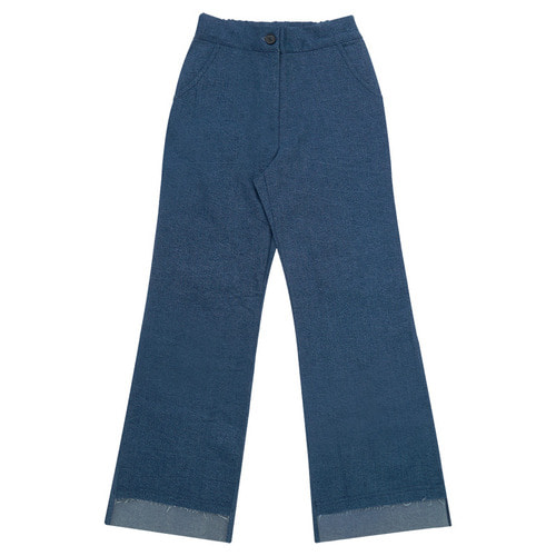 MG6S DENIM UNBAL PANTS (BLUE)