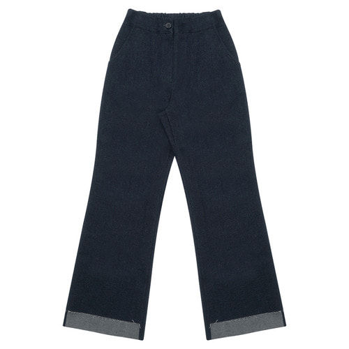 MG6S DENIM UNBAL PANTS (NAVY)