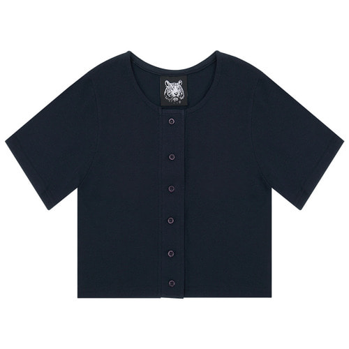 MG6S SELL CROP TEE (NAVY)