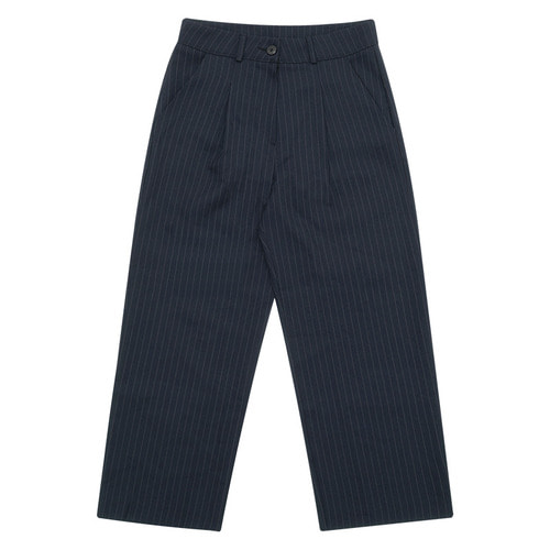 MG6S STRIPE WIDE PANTS (NAVY)