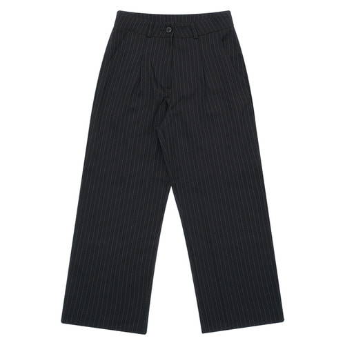 MG6S STRIPE WIDE PANTS (BLACK)