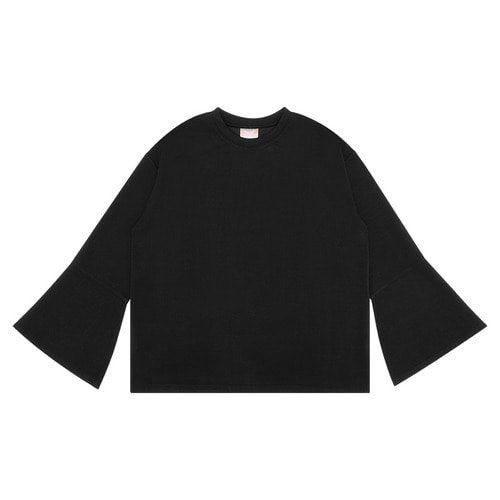 MG6S WIDE SLEEVE TEE (BLACK)