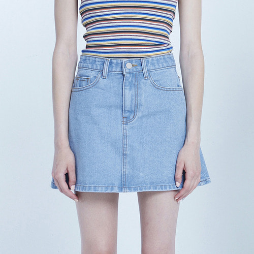 MG8S DENIM MINI SKIRT (LIGHT BLUE)