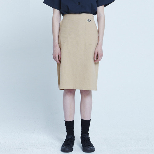MG8S LINEN SLIT SKIRT (BEIGE)