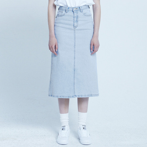 MG8S DENIM LONG SKIRT (LIGHT BLUE)