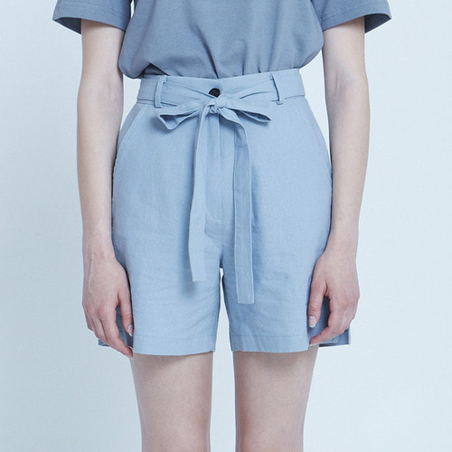 MG8S LINEN RIBBON SHORTS (LIGHT BLUE)