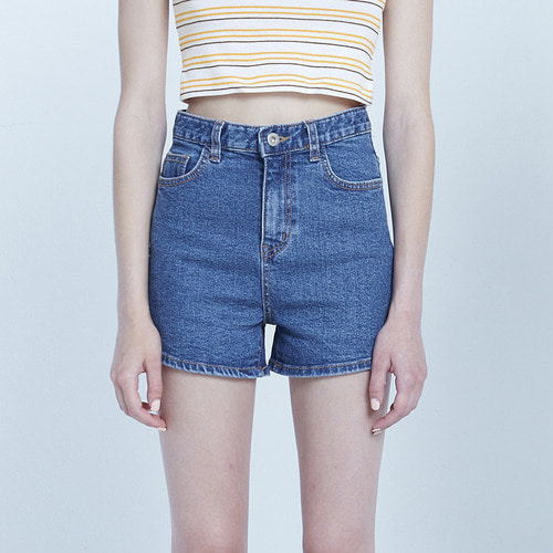 MG8S DENIM MINI SHORTS (BLUE)