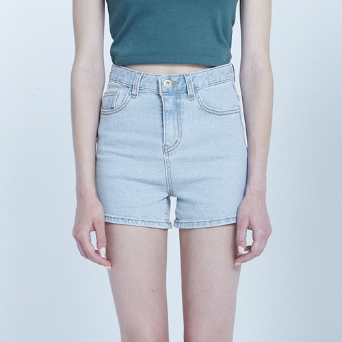 MG8S DENIM MINI SHORTS (LIGHT BLUE)