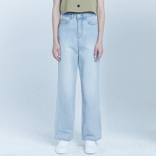 MG8S DENIM HIGH WAIST PANTS (LIGHT BLUE)