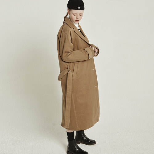 MG8F PEACH TRENCH COAT (BROWN)