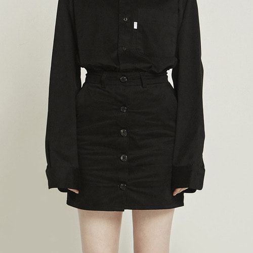 MG8F BUTTON SKIRT (BLACK)
