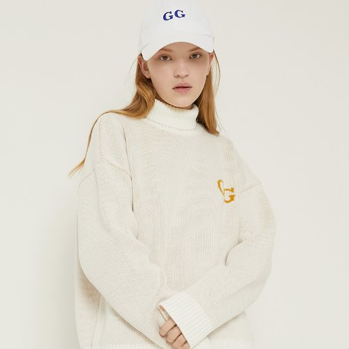 MG8F GG HIGHNECK KNIT (IVORY)