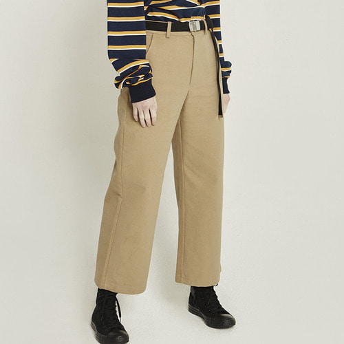 MG8F COTTON WIDE PANTS (BEIGE)