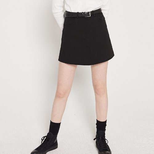 MG9S BASIC MINI SKIRT (BLACK)