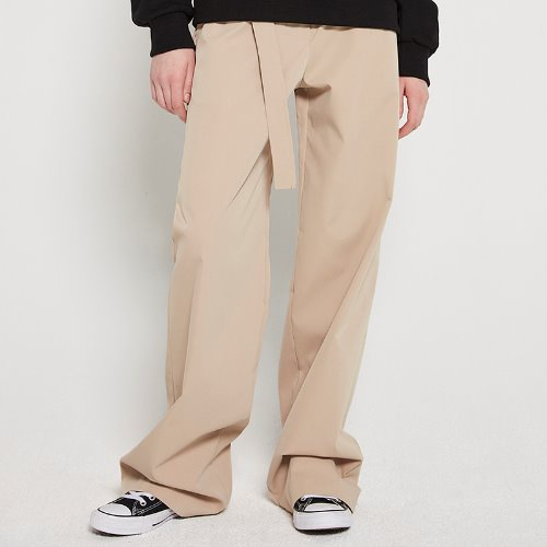 MG9S HIGH WAIST BELT PANTS (BEIGE)