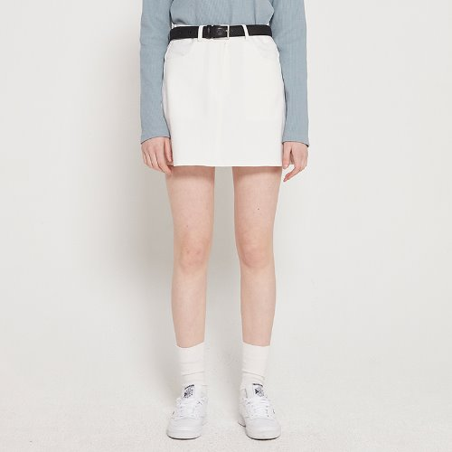 MG9S BASIC MINI SKIRT (WHITE)