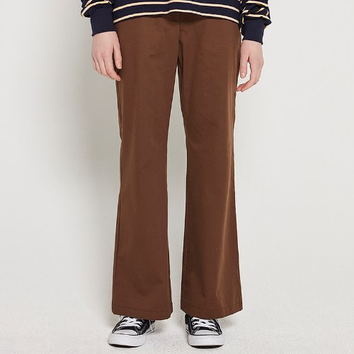 MG9S WIDE BOOTS CUT PANTS (BROWN)