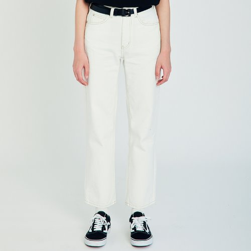 MG9S DENIM STRAIGHT PANTS (IVORY)