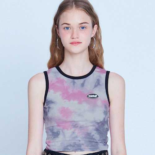 [리퍼브]MG9S TIE DYE SLEEVELESS (PINK)