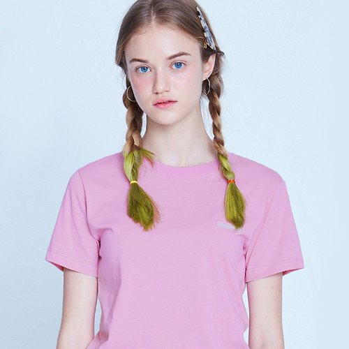 MG9S COLOR POINT CROP TEE (LIGHT PURPLE)