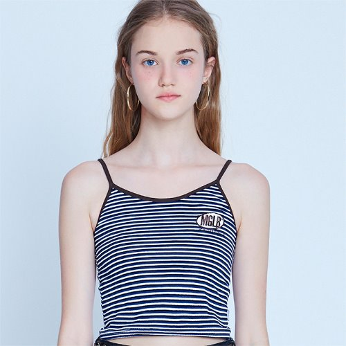 MG9S STRIPE MG SLEEVELESS (NAVY)