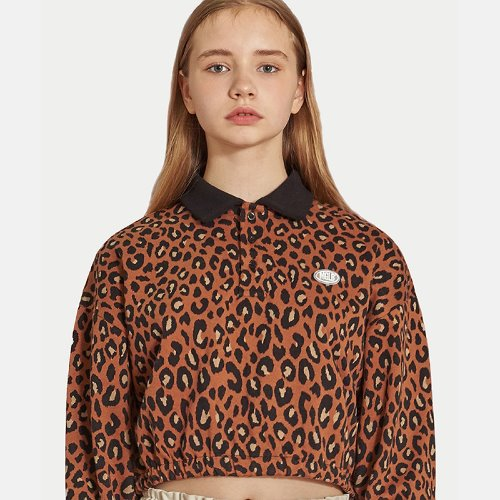 [리퍼브] MG9F LEOPARD CROP MTM (BROWN)