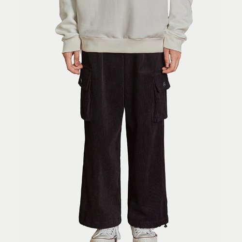MG9F CORDUROY STRING PANTS (BLACK)