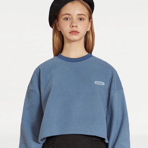 MG9F LABEL POINT CROP TEE (BLUE)