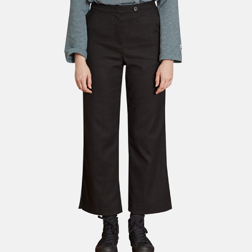 MG9F SLIT LONG PANTS (BLACK)