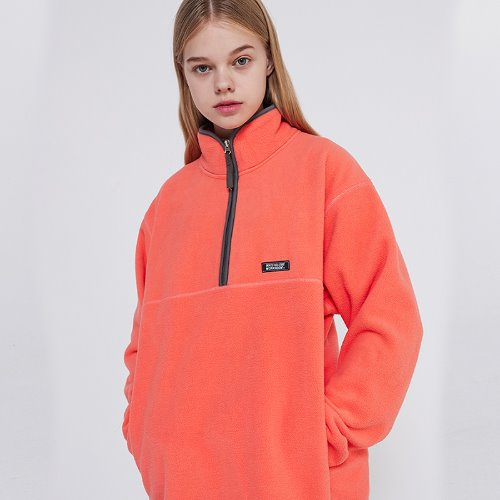 MG9F FLEECE ZIPUP MTM (CORAL)