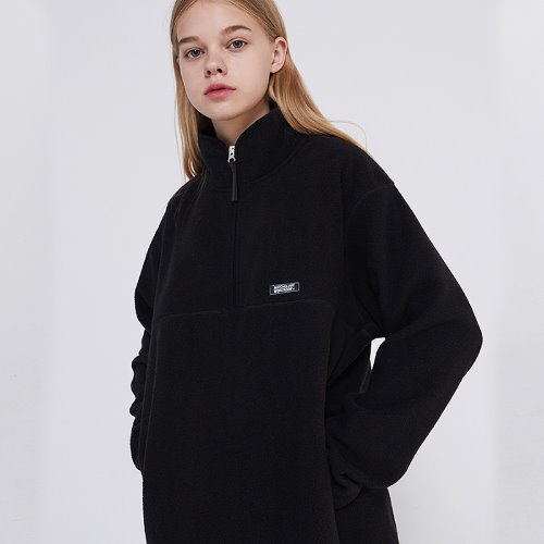 MG9F FLEECE ZIPUP MTM (BLACK)