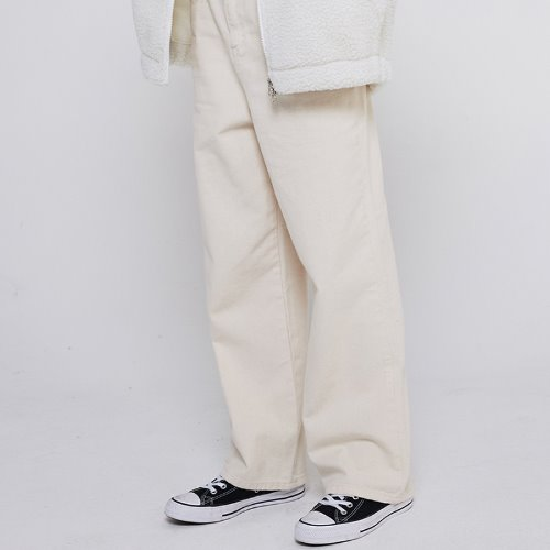 MG9F DENIM LONG SATRAIGHT PANTS (IVORY)