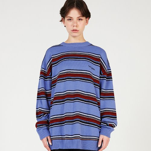 MG0S MULTI STRIPE KNIT MTM (BLUE)