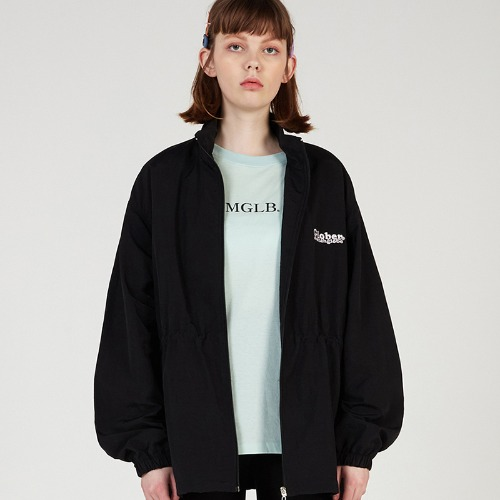 MG0S OVERSIZE STRING NYLON JUMPER (BLACK)